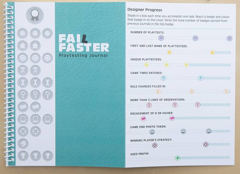 Kickstarter Preview: 'Fail Faster' playtesting journal